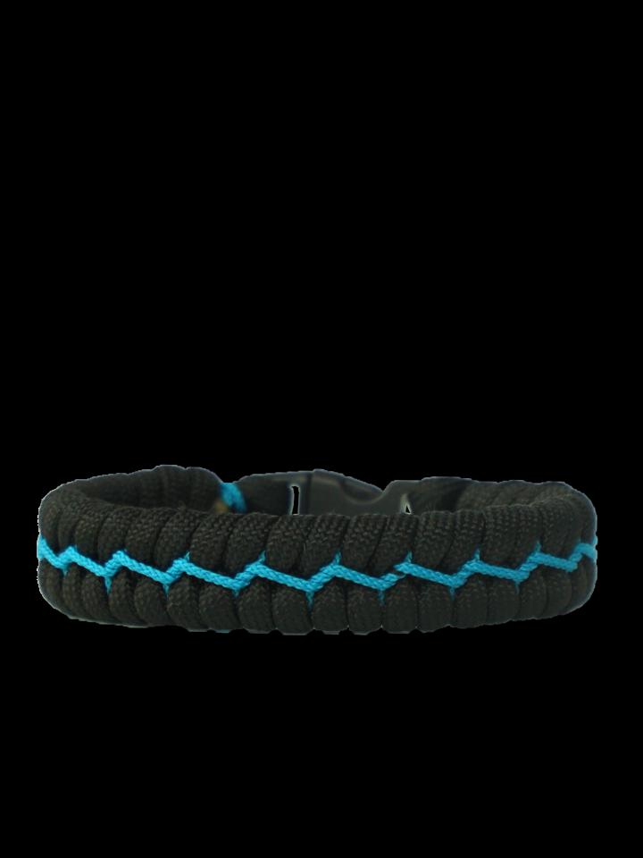 Foto Kék-fekete paracord karkötő Suit