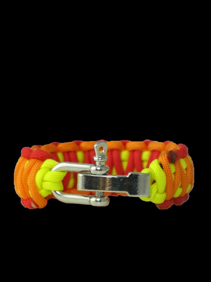 Zľava Bracelet en paracorde Sunset avec boucle ajustable