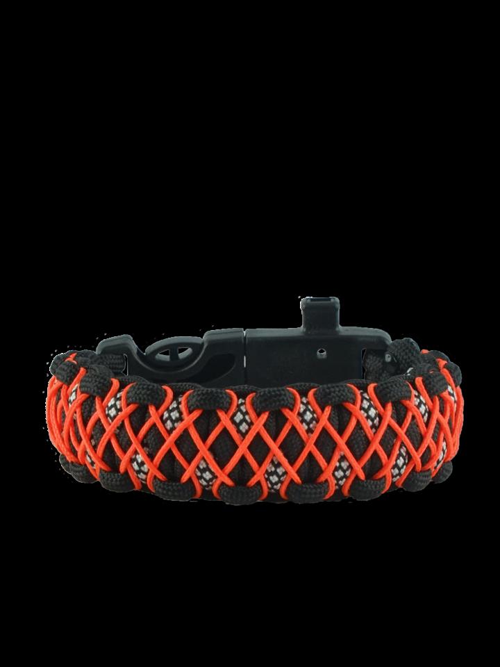 Geschenktipp Paracord Armband mit Feuerschäger, Kompass und Pfeife Galaxy