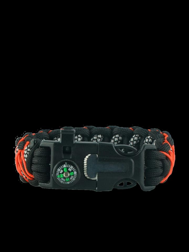Foto Paracord Armband mit Feuerschäger, Kompass und Pfeife Galaxy