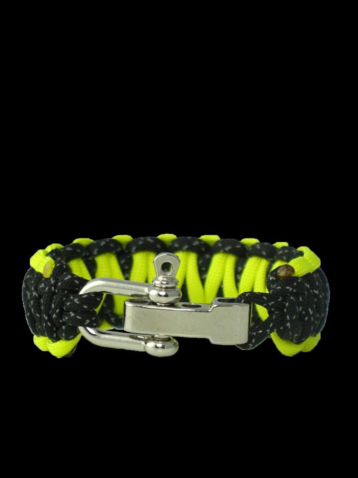 Geschenk von Dedoles Reflektierendes Paracord-Armband Night Line mit verstellbarer Schnalle
