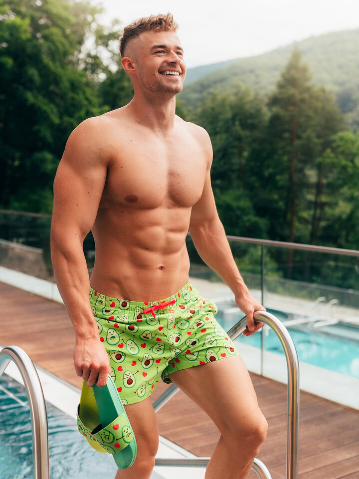 Gift idea Men's Swim Shorts Avocado Love