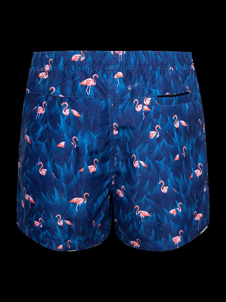 Ausverkauf Lustige Badeshorts für Männer Nacht-Flamingo