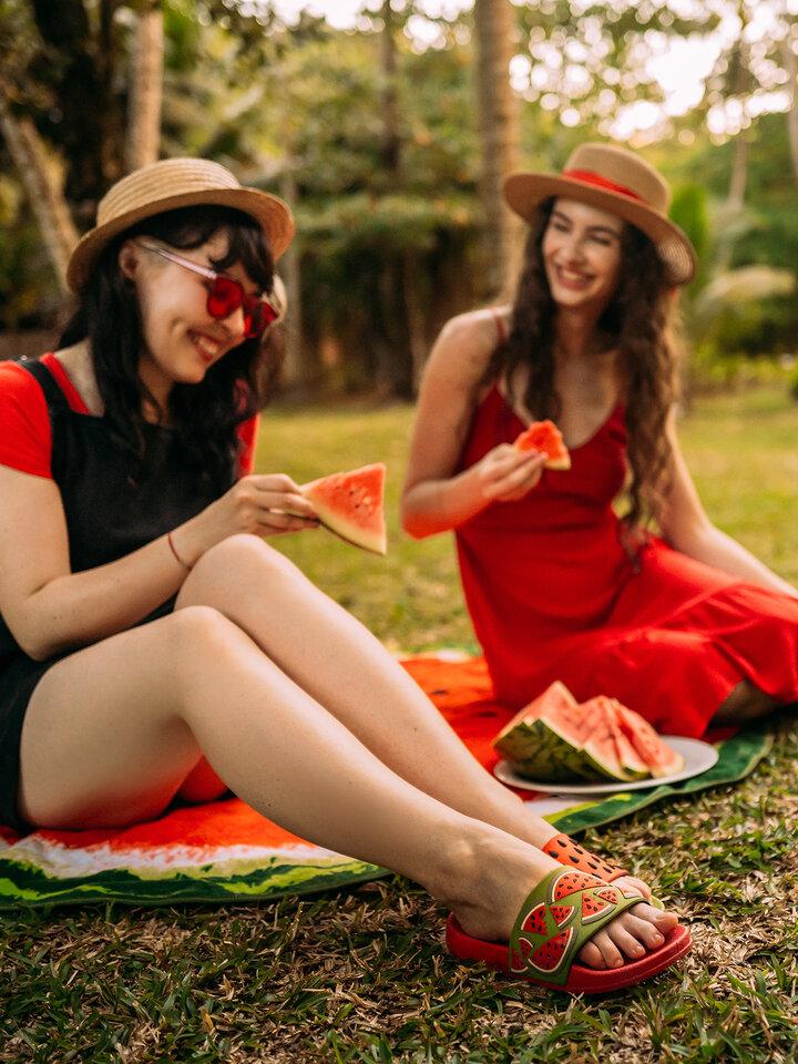 Foto Veselé pantofle Červený meloun
