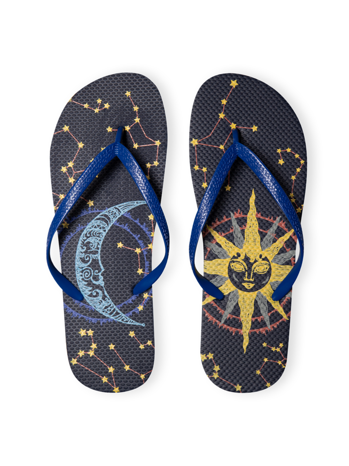 Gift idea Flip Flops Sun and Moon