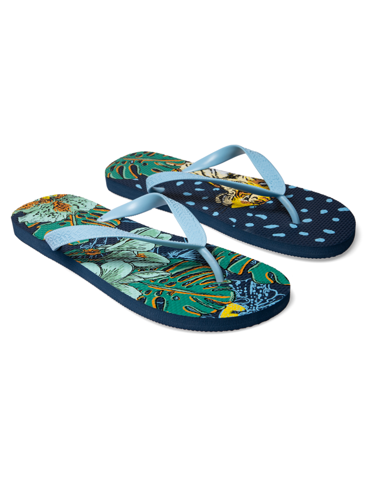 Sale Flip Flops Tropical Jungle