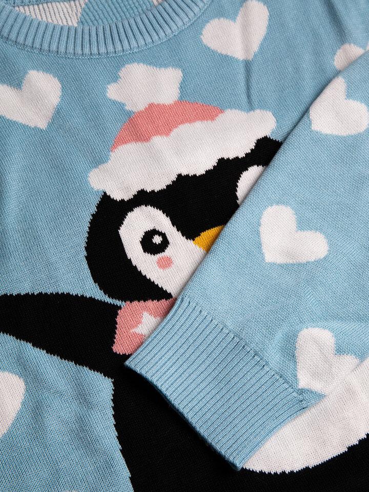 Potešte sa týmto kúskom Dedoles Maglione di Natale Buonumore Pinguino sui Pattini