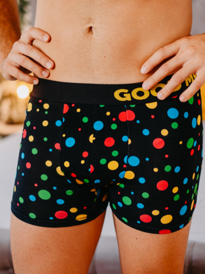 Looking for an original and unusual gift? The gifted person will surely surprise with Men's Trunks Neon Dots