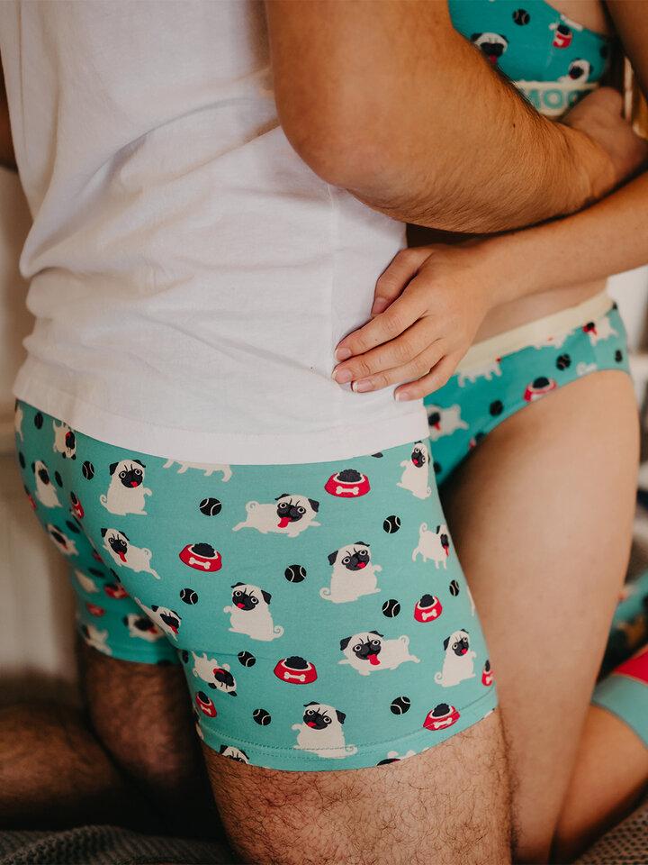 Obrázok produktu Vrolijke heren trunks Mopshond