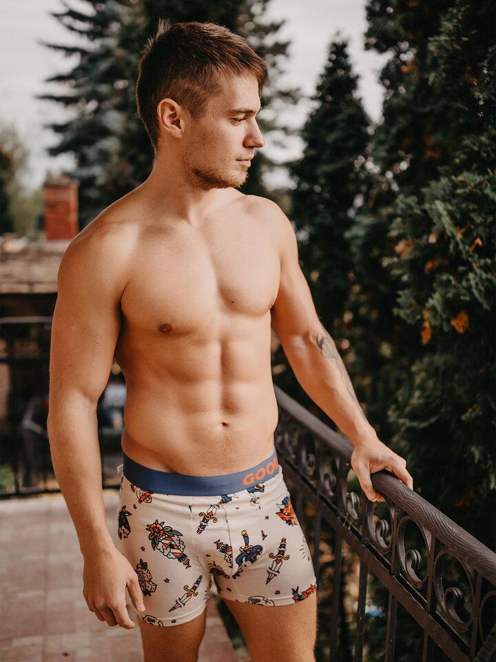 Obrázok produktu Vesele moške boksarice Staromoden tatu