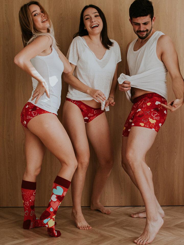 pro dokonalý a originální outfit Veselé pánské boxerky Srdíčka