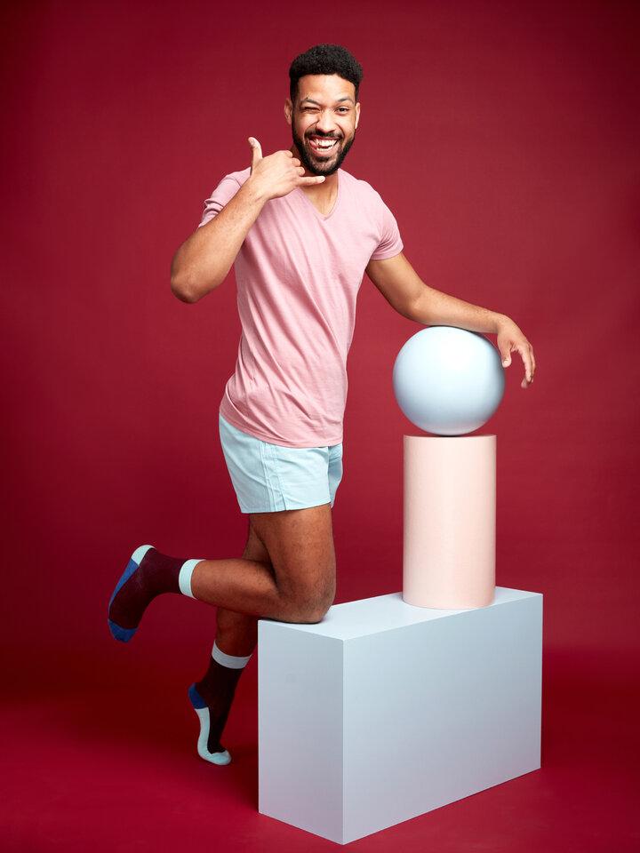 Bereiten Sie sich Freude mit diesem Dedoles-Stück Kristallblaue Shorts für Männer