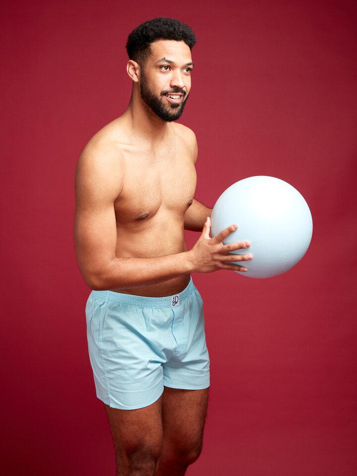 Geschenk von Dedoles Kristallblaue Shorts für Männer