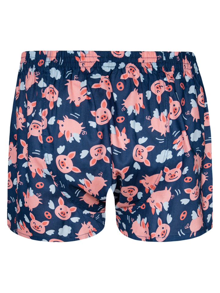 Original gift Men's Boxer Shorts Flying Pigs