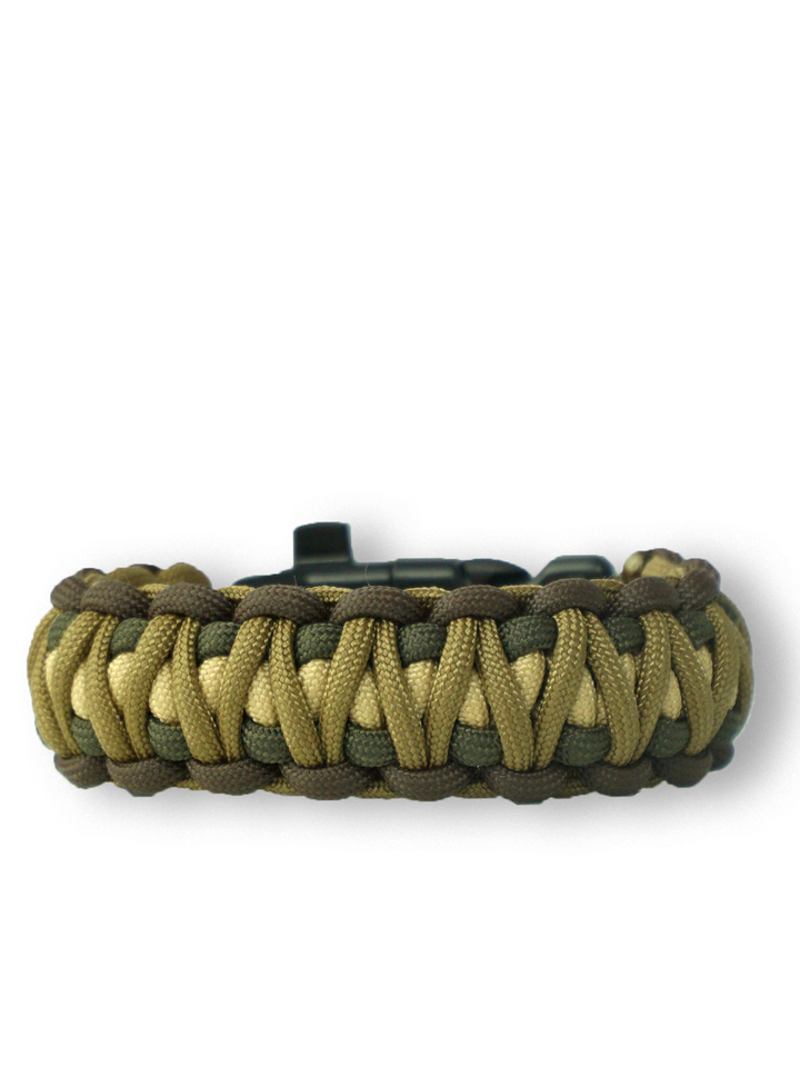 Sale Paracord Bracelet Multicam DigiWith Knife, Fire Starter, Compass and Whistle