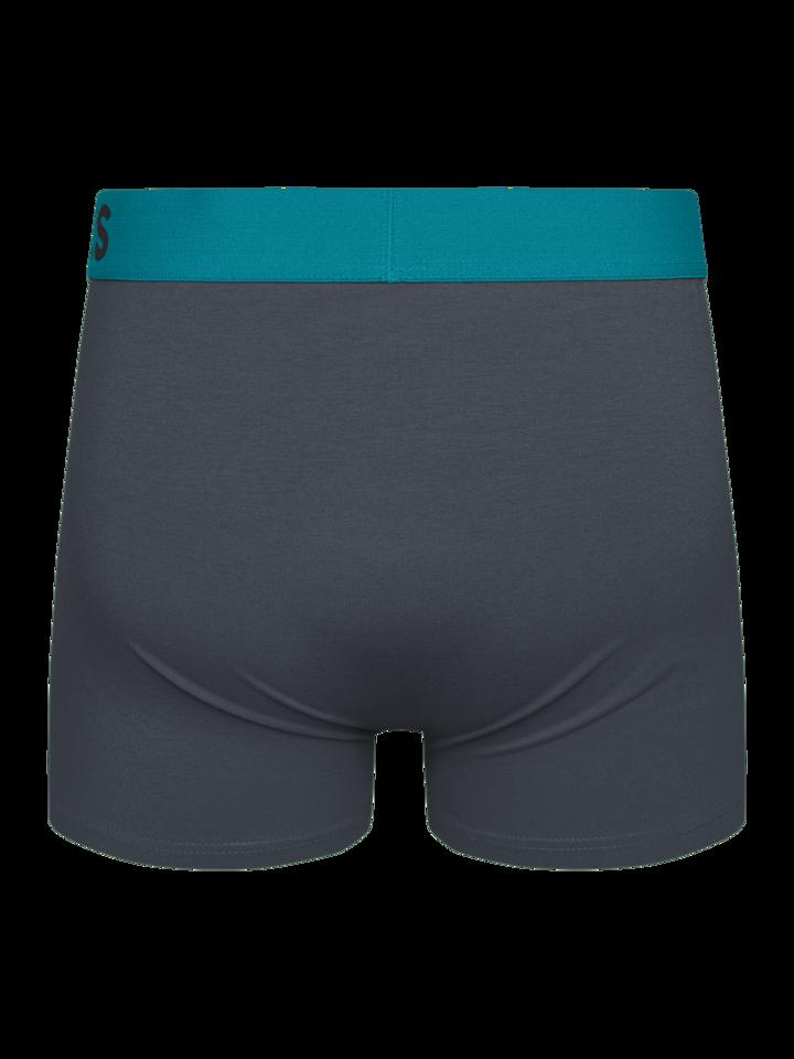 Výpredaj Antracitovo sivé pánske boxerky