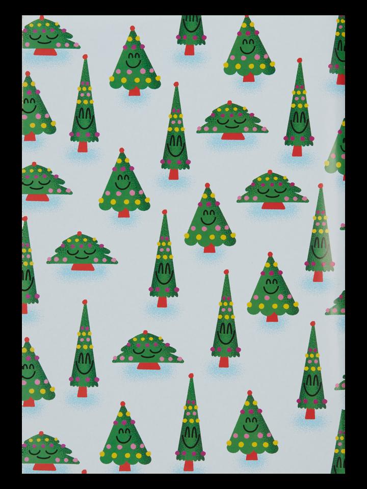 Obrázok produktu Papier d'emballage rigolo Arbre de Noël