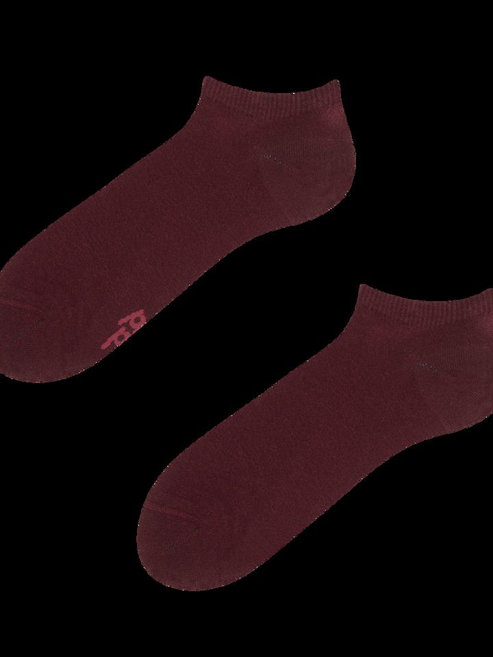 Sale Burgundy Bamboo Ankle Socks