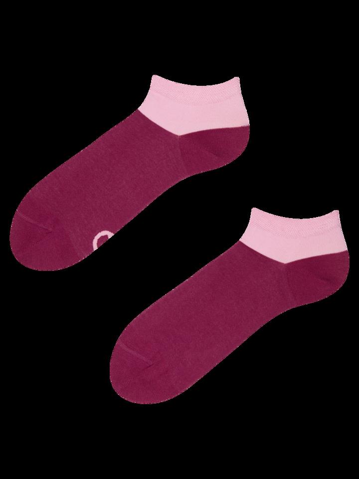 Výprodej Bordově růžové kotníkové ponožky Symfonie
