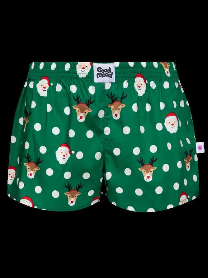 Tip na darček Calzoncillos alegres para mujer Santa y Rudolf