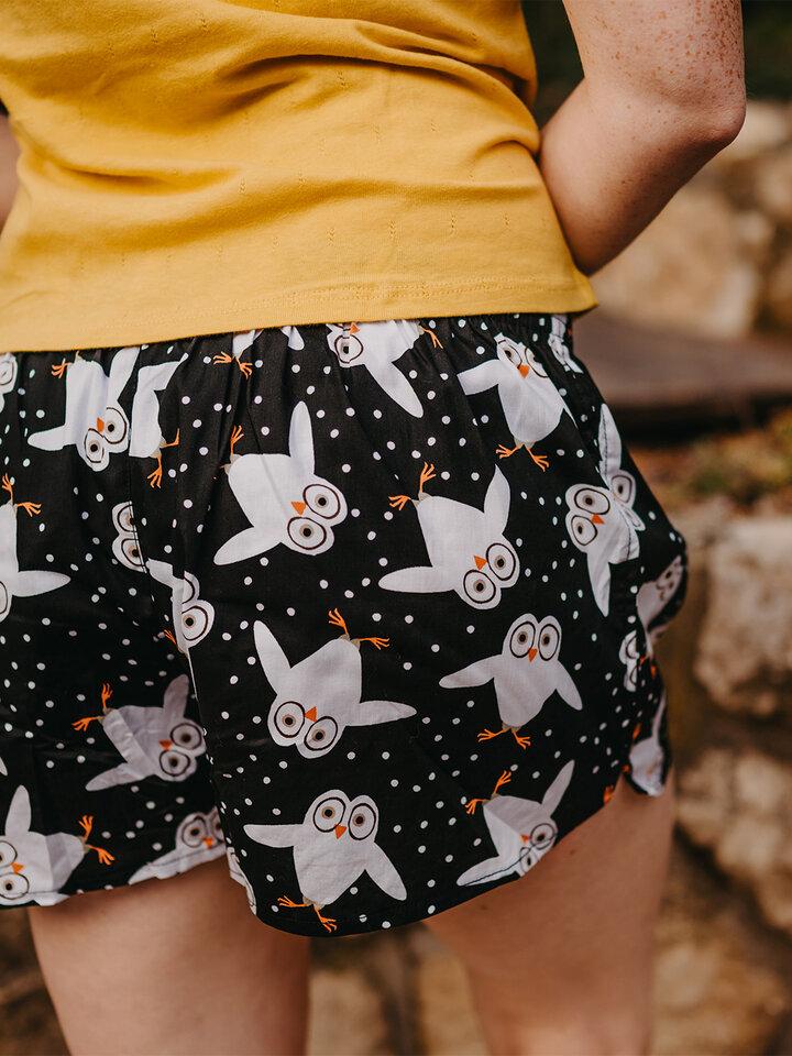 Gift idea Women's Boxer Shorts Owls