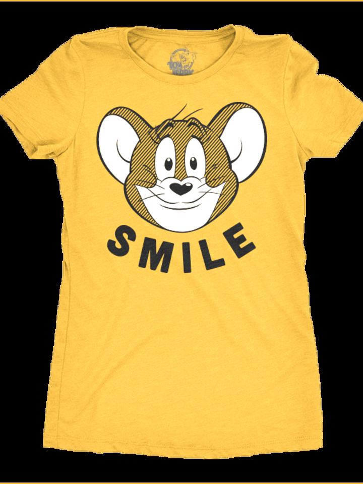 Výnimočný darček od Dedoles Ženska majica Tom a Jerry™ Smile