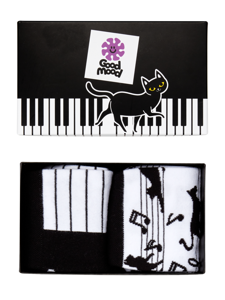 Potešte sa týmto kúskom Dedoles Caja regalo Gato pianista