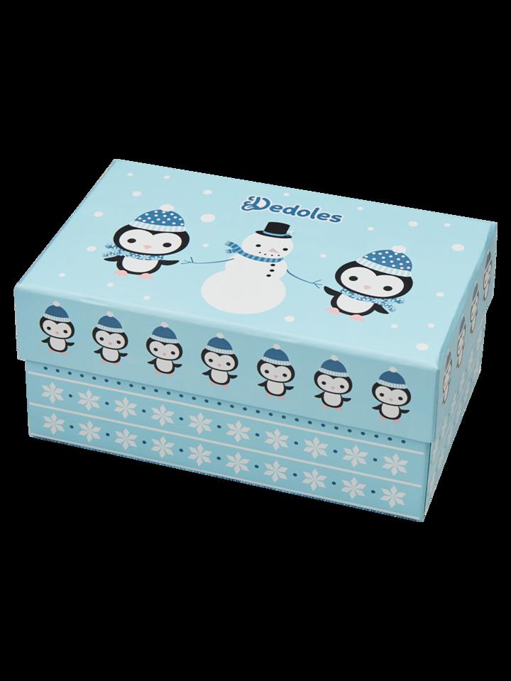 Potešte sa týmto kúskom Dedoles Darčeková krabička teplých ponožiek Tučniak a snehuliak