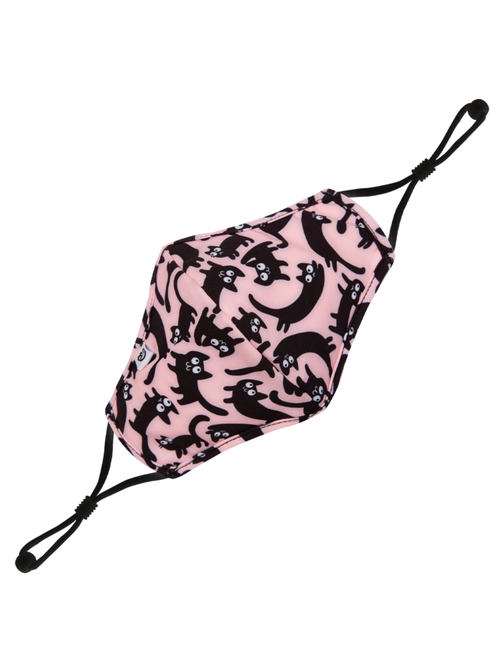 pro dokonalý a originální outfit Dětská veselá antibakteriální rouška Růžové kočky