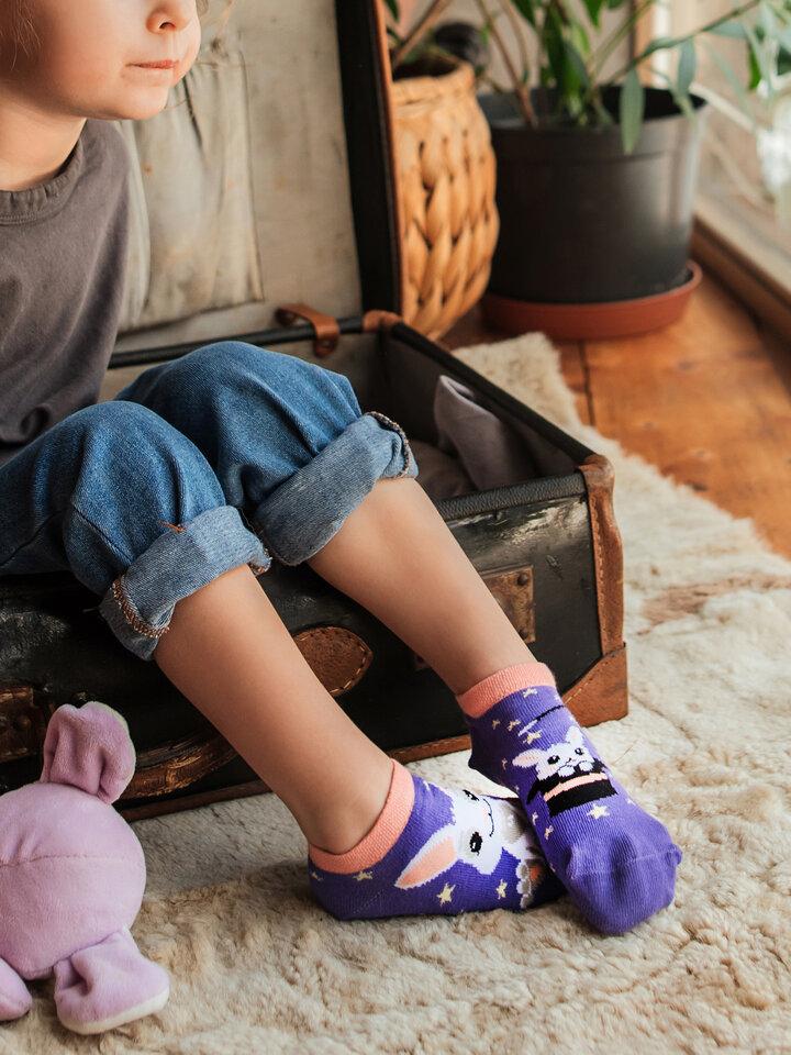 Tip na darček Živahne otroške kratke nogavice Čarobni zajček