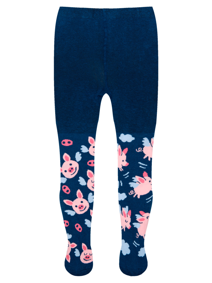 Looking for an original and unusual gift? The gifted person will surely surprise with Kids' Tights Flying Pigs