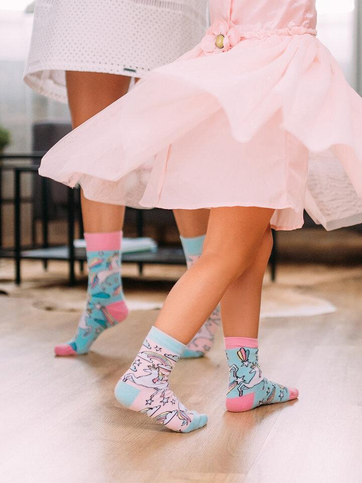 Sale Kids' Socks Ranbow Unicorn