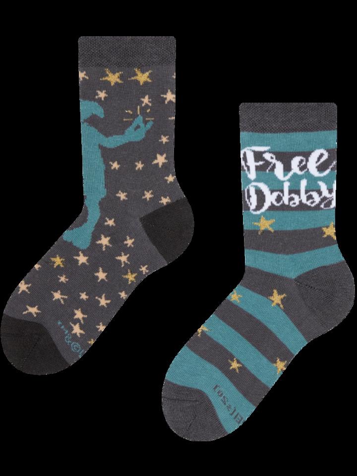 Lifestyle foto Calcetines infantiles de Harry Potter ™ con la frase Dobby is Free