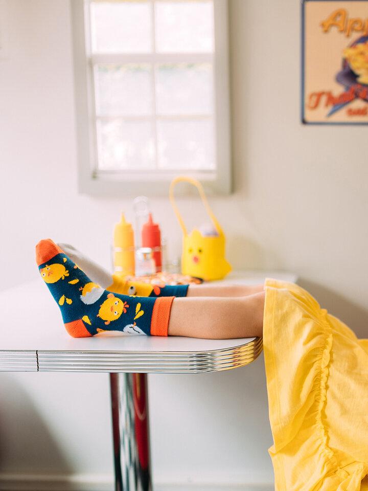 Obrázok produktu Chaussettes rigolotes pour enfants Poussin