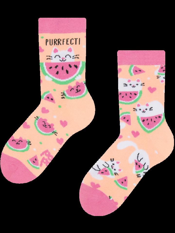 Lifestyle photo Kids' Socks Watermelon Cat