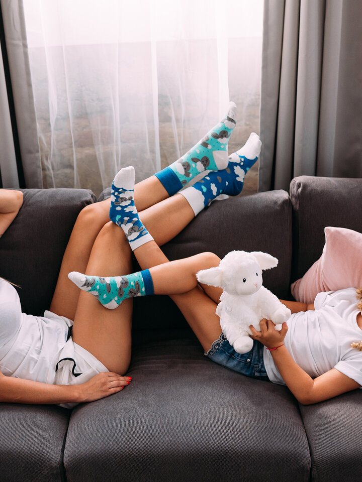 Lifestyle photo Kids' Socks Sheep & Clouds