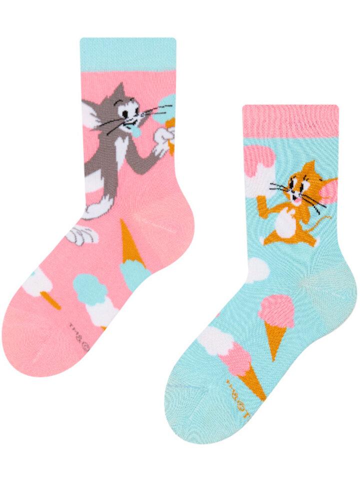 Potešte sa týmto kúskom Dedoles Detské veselé ponožky Tom a Jerry ™ Zmrzlina