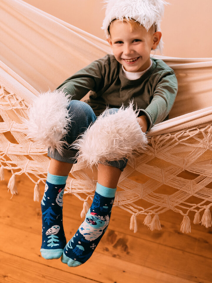 Looking for an original and unusual gift? The gifted person will surely surprise with Kids' Warm Socks Forest Yeti