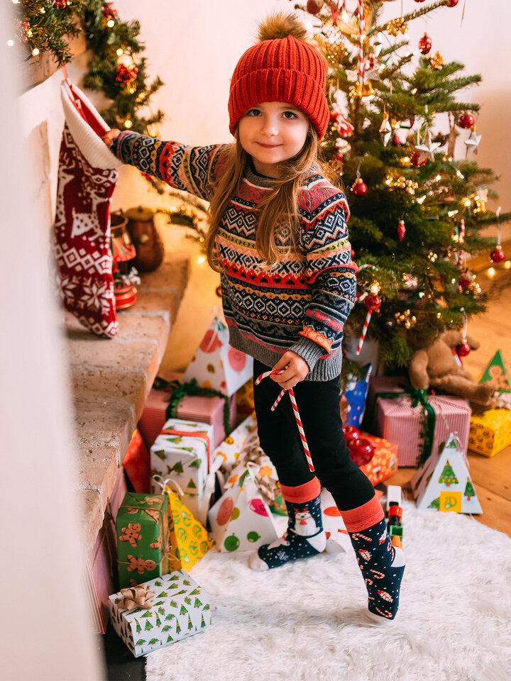 Zľava Chaussettes chaudes rigolotes pour enfants Ours polaire