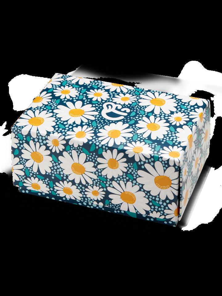 Dedoles oryginalny prezent Klasyczne pudełko na prezent Kwitnące stokrotki