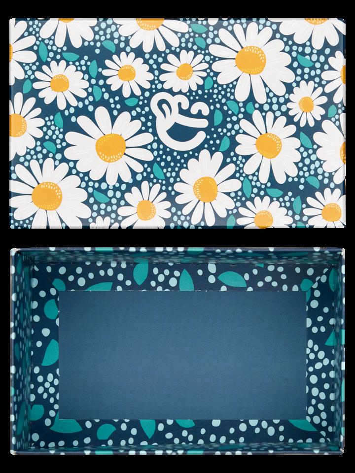 Pomysły na prezenty Klasyczne pudełko na prezent Kwitnące stokrotki
