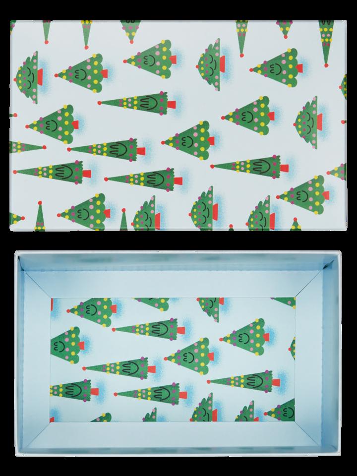 Hledáte originální a neobvyklý dárek? Obdarovaného zaručeně překvapí Klasická dárková krabička Vánoční stromek