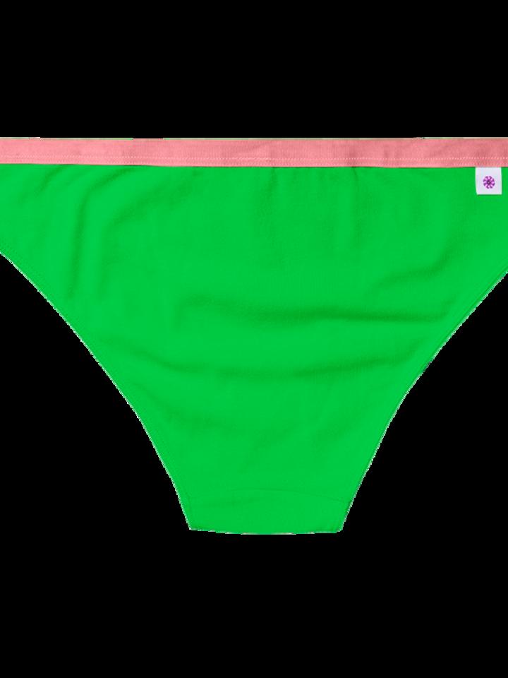 Foto Neonově zelené dámské kalhotky