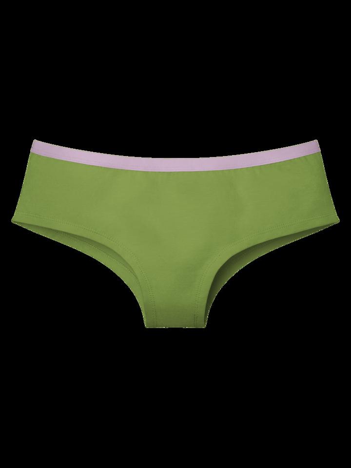 Výpredaj Olivovo zelené dámske nohavičky hipster