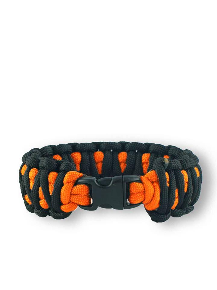 Suchen Sie ein originelles und außergewöhliches Geschenk? überrascht den Beschenkten sicher Orange-schwarzes Paracord Armband King Cobra