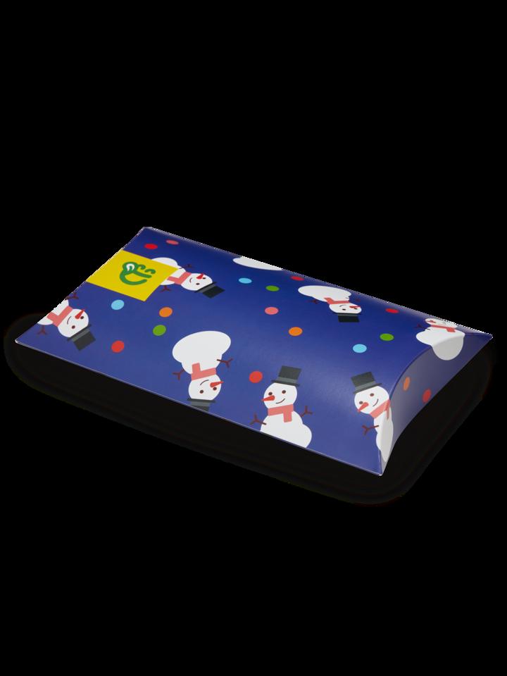 ОТСТЪПКА Овална кутия за подарък Бой със снежни топки