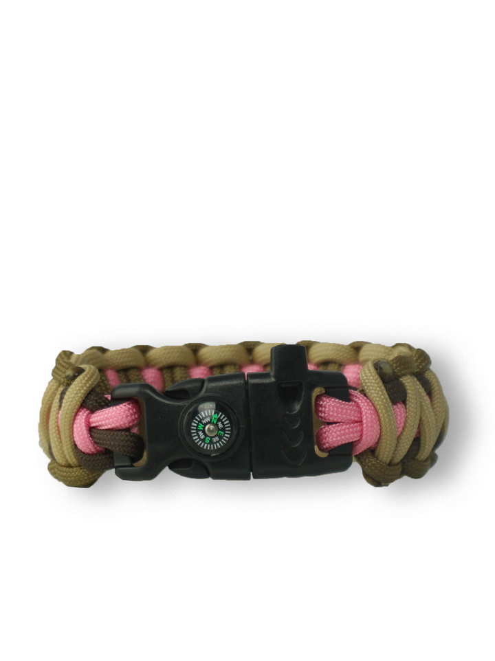 Looking for an original and unusual gift? The gifted person will surely surprise with Paracord Bracelet Multicam W2With Fire Starter, Compass and Whistle