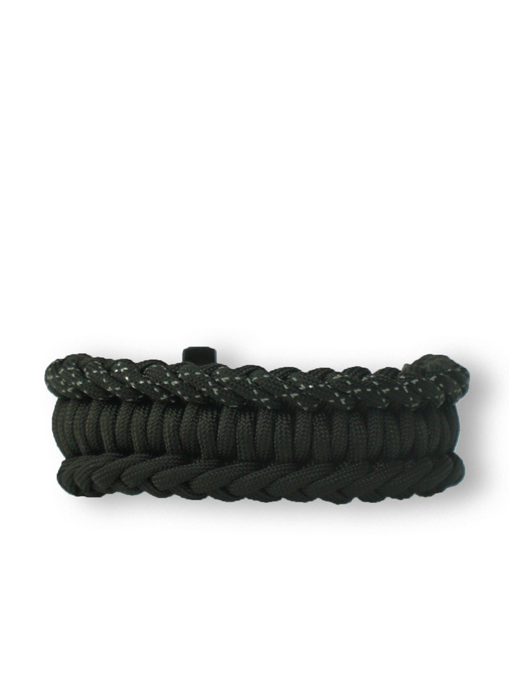 Sale Black Paracord Bracelet SalvadoraWith Fire Starter, Compass and Whistle