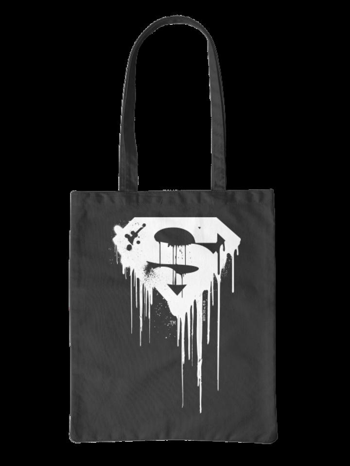 Bereiten Sie sich Freude mit diesem Dedoles-Stück Leinentasche Superman ™ Schwarz-weißes Logo