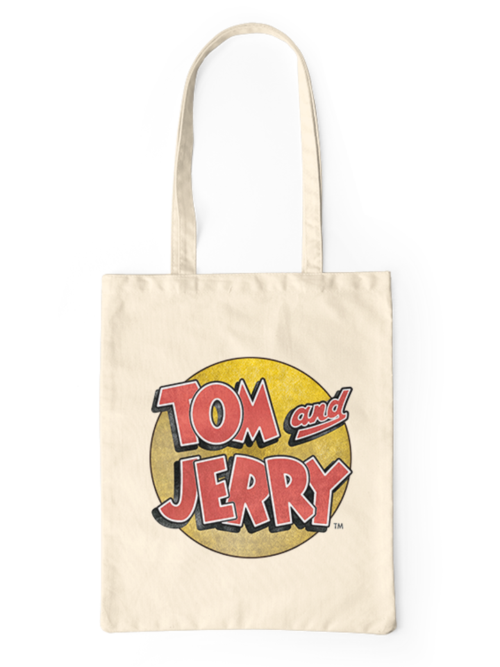 Sale Canvas Tote Bag Tom & Jerry ™ Logo